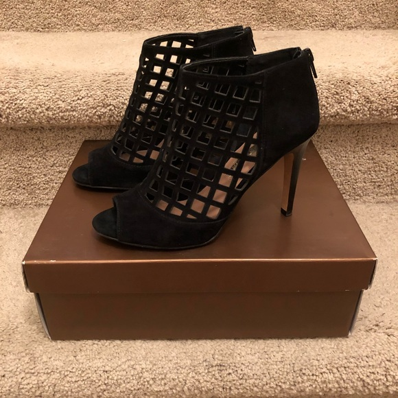 Audrey Brooke Shoes - Black Heeled Booties